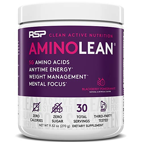 RSP Nutrition RSP AminoLean – All-in-One Pre Workout, Amino Energy, Weight Management Supplement with Amino Acids…