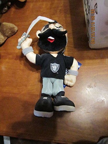 1994 oakland Raiders Stuffins plush doll 12quot; tall amp; tags (Doll Tag)