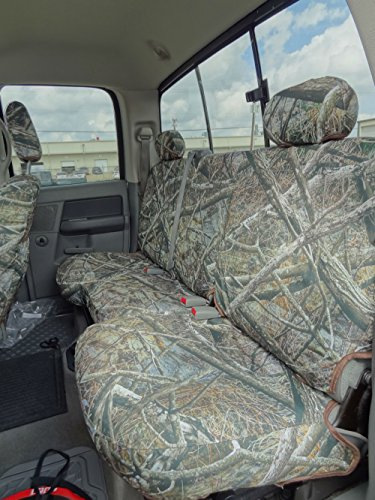 Cab Rear Seat - Durafit Seat Covers D1290 Camo Endura Seat Covers for 2003-2009 Dodge Ram Crew Cab Rear 40/60 Split Bench Seat with Adjustable Headrests