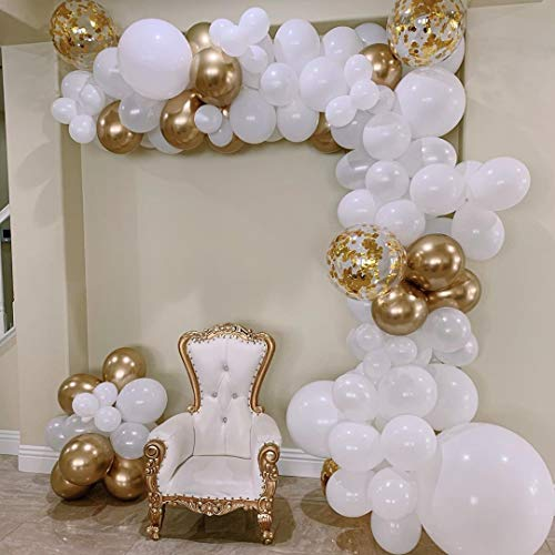 AlexBasic 112 Pieces Balloon Arch Kit Balloon Garland Kit Decorations with Decorating Garland Strip & Glue Dots for Wedding, Baby Shower, Graduation, Anniversary, Birthday, Party DIY Decorations -