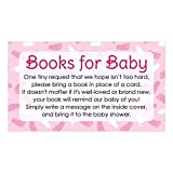 Books for Baby Shower Request Cards - Pink Girl Theme (Set of 20)