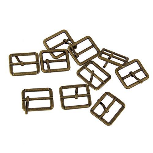 (Flameer Metal Roller Pin Buckles Rectangle Tri-Glide Buckle Slider Strap Bronze 25mm - Bronze, 25mm)