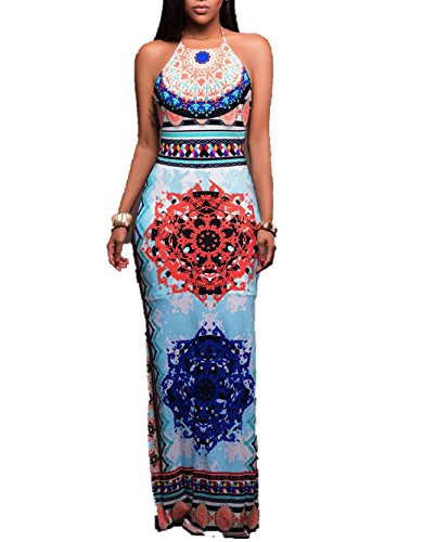 summer-lavender Express Explosion Sexy Backless Dresses Bohemian Positionable Print (Costumes For Sale South Africa)