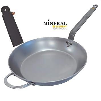 De Buyer - Sartén Mineral B Element Hierro + Protector de Mano, 32 cm: Amazon.es: Hogar