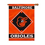 Fremont Die MLB Baltimore Orioles House Banner, 28 x 40-Inch, Team Color