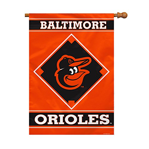 MLB Baltimore Orioles House Banner, 28 x 40-Inch, Team Color Baltimore Orioles Banner Flag