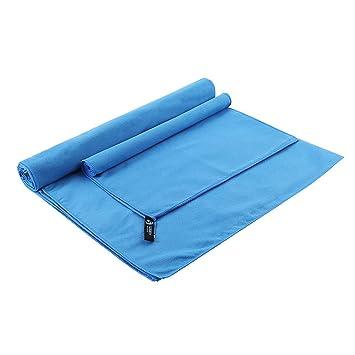 Juego de toallas de viaje deportivas de microfibra, absorbente, de secado rápido, toalla