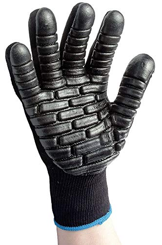 Impacto Anti-Vibration Gloves, Chloroprene Coated Palm Material, Black, L, PR 1 - 4738L