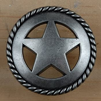 Set Of 6 Rustic Rope Lone Star Drawer Pulls Cabinet Knobs Western Southwest  Decor Texas (