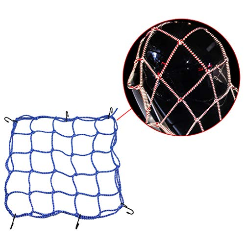 CHCYCLE Motorcycle Helmet Net Reflective and Elastic with Hooks for Bicycle Cargo Net Luggage Bungee Net Storage 15