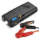 MoKo 1200A Peak Car Jump Starter, 12000mAh Portable Power Bank Battery Booster (Up to 6.5L Gas, 5.2L Diesel Engine), with 2 USB Ports, QC3.0 Fast Charging and Emergency LED Flashlight - Yellow
