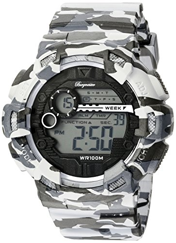 Burgmeister Men's BM803-020 Digital Display Quartz Grey Watch