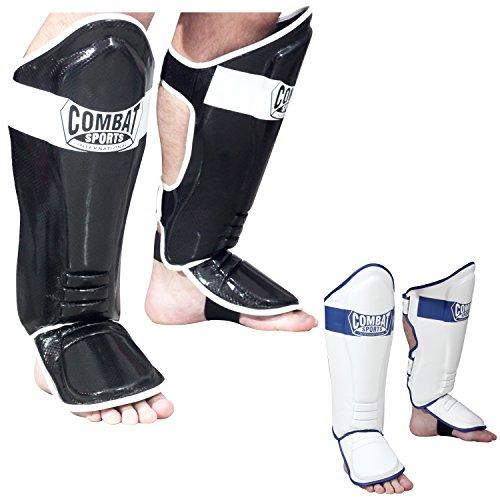 Ringside Combat Sports MMA Kickboxing Shin Guards, Black, Large