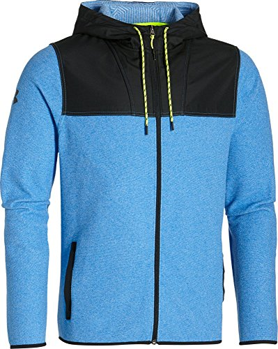 Under Armour Men's ColdGear Infrared Performance Fleece Zip Hoodie, Blue Jet/Black, (Under Armour Performance Fleece)