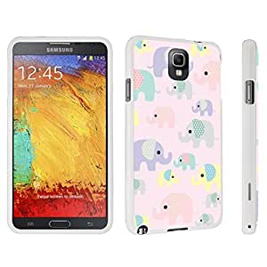 DuroCase ? Samsung Galaxy Note 3 Hard Case White - (Cute Elephant Pink)