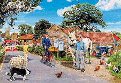 Gibsons Olive House Farm Jigsaw Puzzle (100 XXL Pieces)
