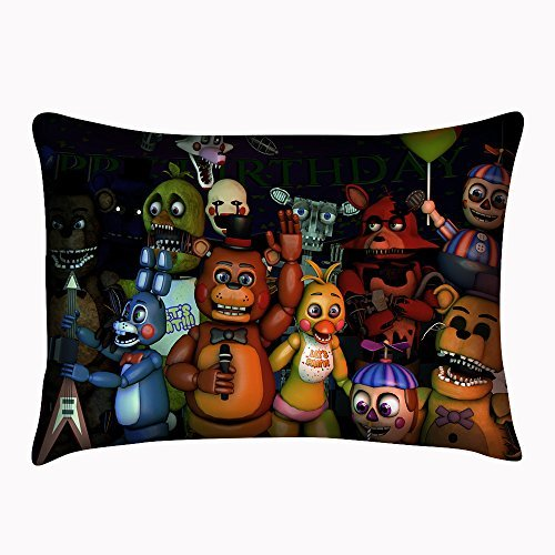 Price comparison product image Custom Five Nights at Freddy's Pillowcase Bear Pillow Cushion Cover Pillowslip Size 20x30 Inch