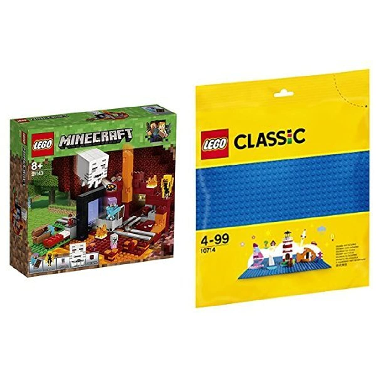 [해외] 레고(LEGO) 마이구라후토 어둠(암블랙)의 포털 21143 & 클래식 기초 판(블루) 10714