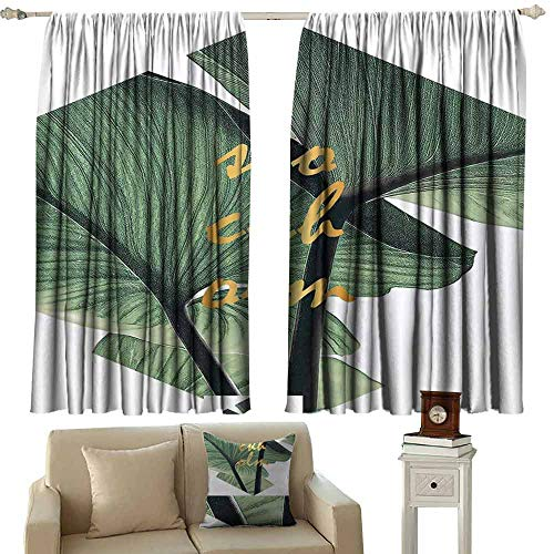 Mannwarehouse Polyester Curtain Texture for Design Can be Used as Background for Living, Dining, Bedroom (Pair) 55