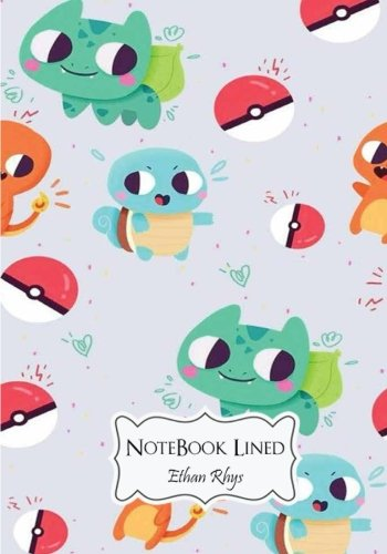 """Notebook Lined : Pokemon: Notebook Journal Diary, 110 Lined pages, 7"""" x 10"""""""