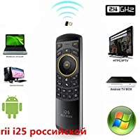 Russian Rii i25 Keyboard 2.4G Mini Wirless Keyboards With Air Fly Mouse For PC HTPC Android TV Box