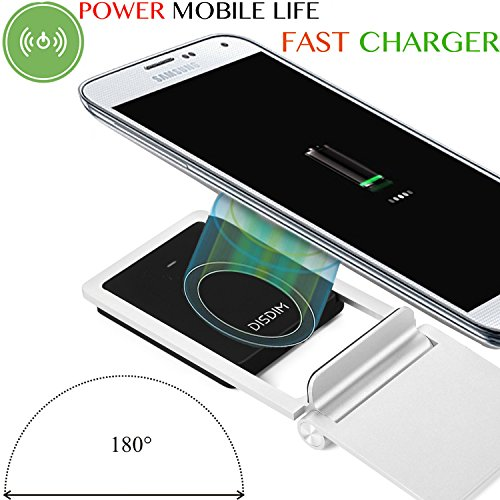 70%OFF iPhone X Fast Wireless Charger, DISDIM 2 in 1