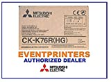 Mitsubishi CK-K76R(HG) media paper and ribbon kit (total of 640 prints). For use with the Mitsubishi CP-K60DW-S printer. Comes with samples of our best selling photo folders! Authorized Dealer.