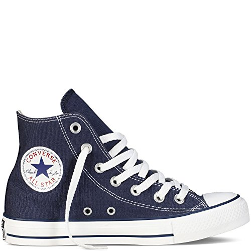 Converse Unisex Chuck Taylor All Star Hi Basketball Shoe Navy Blue/White 12.5 B(M) US Women / 10.5 D(M) US Men