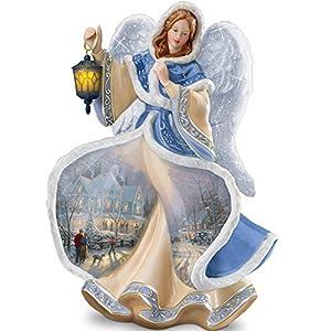 Thomas Kinkade Winter Angel Of Light Figurine by The Bradford Exchange