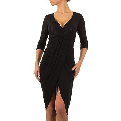 ef8bf558852 Damen Kleid Cocktailkleid Abendkleid Ballkleid Abikleid Partykleid  festliche Kleider Schwarz 42