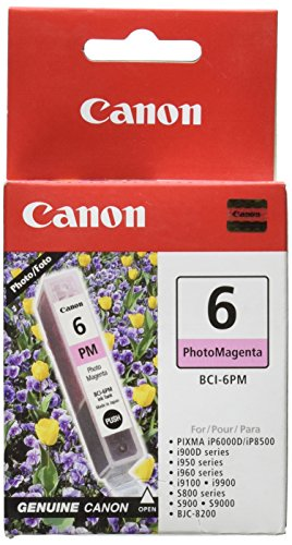 Canon BCI-6 Photo Magenta Ink Tank Compatible to iP8500, iP6000D, i9900, i9100, i960, i950, i900D, S9000, S900, S830D, S820D, S820, S800, BJC8200