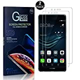 Huawei P9 Screen Protector, Bear Village® Tempered Glass Screen Protector [Lifetime Warranty], HD Screen Protector Glass for Huawei P9-2 PACK
