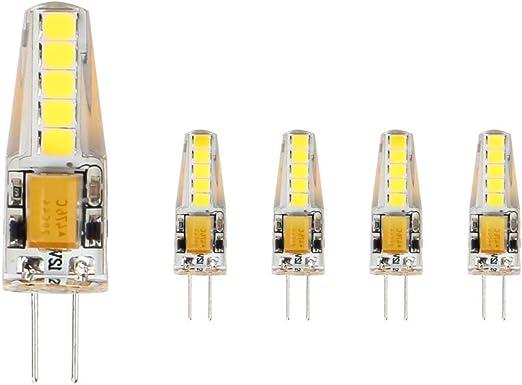 6,000K 36mm x 9mm Plus Proche de la Taille Traditionnelle AC//DC 12V 3W LED Equivalent 23W Ampoule /à Halog/ène ELINKUME 5X G4 LED Ampoule 3W Blanc Froid
