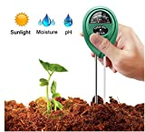 7TECH 3-in-1 Soil pH Meter Tester Moisture Plant Soil Light and PH acidity Tester Great For Garden Farm Lawn Indoor & Outdoor (No Battery needed)
