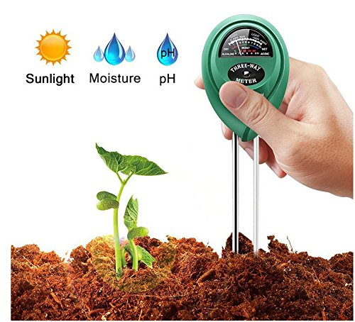 7TECH 3-in-1 Soil pH Meter Tester Moisture Plant Soil Light and PH acidity Tester Great For Garden Farm Lawn Indoor & Outdoor (No Battery needed) For Sale