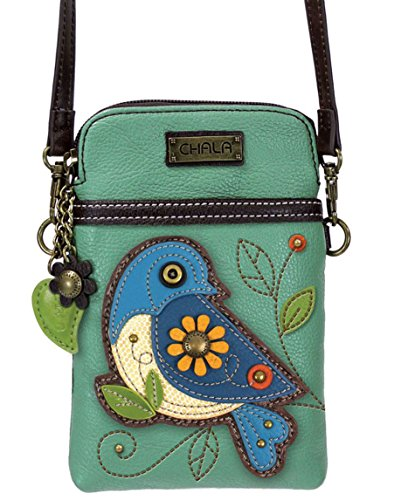 Crossbody Convertible Blue Cellphone Bird Chala Strap Handbag tZXRc