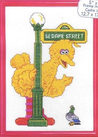Big Bird Cross Stitch Kit with Frame (Sesame Street Cross Stitch)