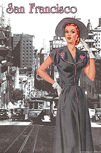 Buyenlarge 0-587-21311-6-C2030 San Francisco Walking Dress II Gallery Wrapped Canvas Print, 20
