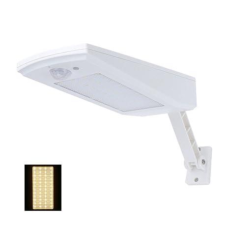 NONMON Foco Solar Exterior de Pared 48 LED con Sensor de Movimiento, 900 LM Lámpara