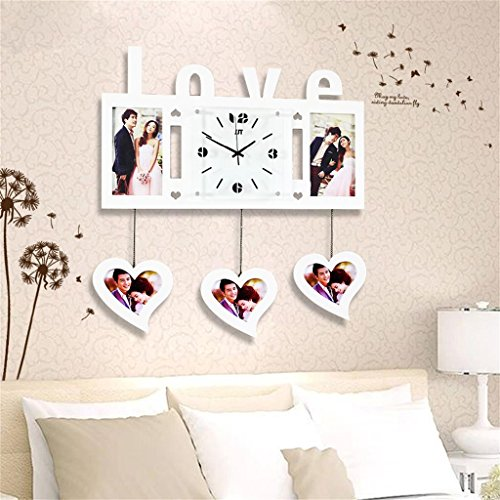TOYM-Frame creative living room wall clock modern minimalist living room table fashion personality mute large wall clock