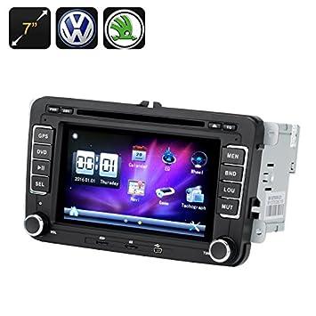 BW 2 DIN coche reproductor de DVD - 7 pulgadas de pantalla, GPS, Bluetooth, Región Libre, Radio FM, para VW y Skoda Vehículos: Amazon.es: Electrónica