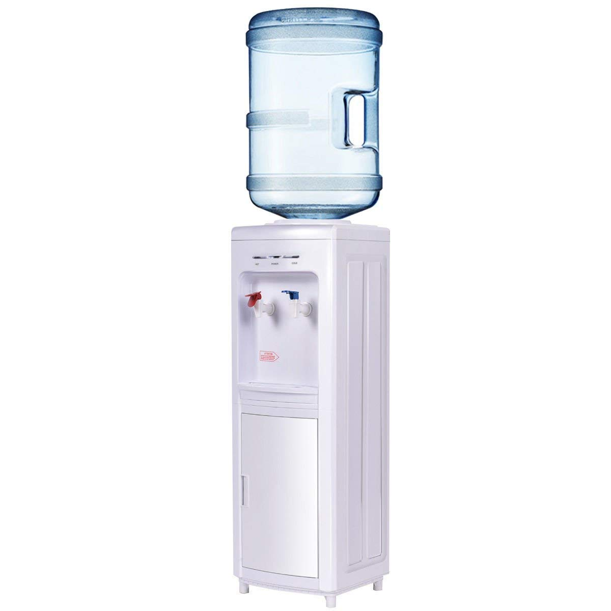 5 Gallon Electric Water Cooler Dispenser Stand Perfect For Home And Office Use Primo Machine Cold And Hot Bottle Load Digital Screen Low Noise Compressor Hot Water Child Lock Included Does Not Apply