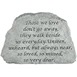 Kay Berry Inc Those We Love Memorial Stone – Remember Them Indoors Or Outdoors in Garden