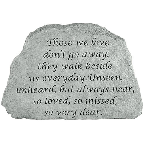 Kay Berry Inc Those We Love Memorial Stone - Remember Them Indoors Or Outdoors in Garden