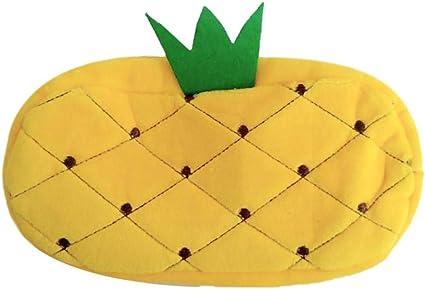 Wisilan - Estuche de goma EVA para lápices y bolígrafos (gran capacidad), diseño de frutas, color verde, color amarillo 20 * 11CM: Amazon.es: Oficina y papelería