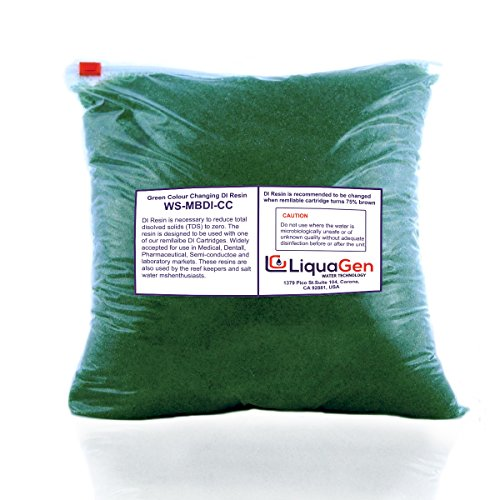 LiquaGen 2.4 Pounds - Aquarium Reef Color Changing Deionization Resin (RO/DI) for 0 TDS/PPM Water - MBD - (Anion Resin)