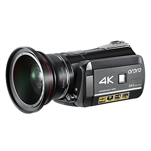 ORDRO Camcorder 4K 60fps Ultra HD 30X Zoom Digital Video Cam