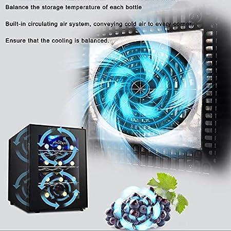 CLING 12 Botellas Enfriador de Vino Compresor Refrigerador Independiente Contador Vino Cerveza Champagne Bodega Pantalla Digital de Temperatura Puerta de Vidrio de Doble Capa Operación silenciosa