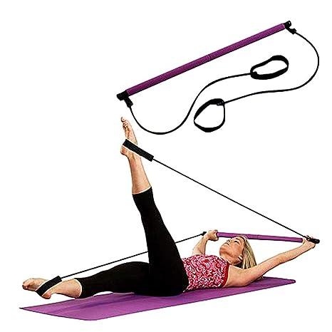 LIJJY Barra Portátil para Pilates, Barra De Gimnasio, Yoga, Ejercicio, Pilates, Entrenamiento, Barra De Fitness
