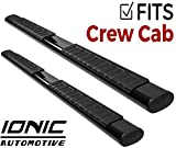 Ionic Voyager Plus Black Running Boards 2007-2018 Chevy Silverado GMC Sierra Crew Cab